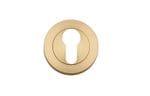 Euro Escutcheon Pair 52mm Brushed Brass