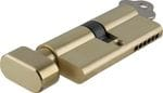 Euro Cylinder Key/Thumb Turn Polished Brass 70mm