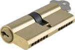 Euro Cylinder Key/Key Polished Brass 70mm