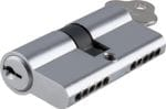 Euro Cylinder Dual Function Chrome 65mm
