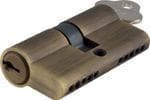 Euro Cylinder Dual Function Antique Brass 80mm