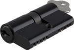 Euro Cylinder Dual Function Matt Black 80mm