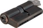 Euro Cylinder Dual Function Antique Copper 100mm