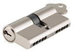 Euro Cylinder Dual Function Polished Nickel 100mm