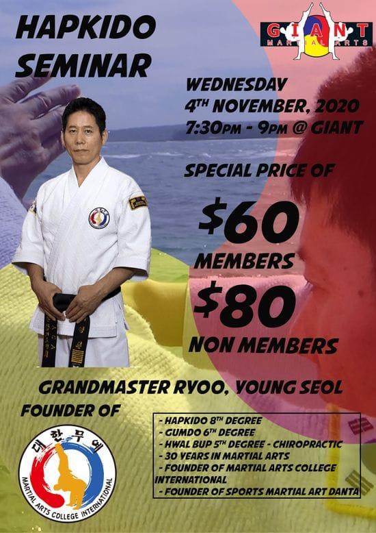 Hapkido Seminar with Grandmaster Ryoo