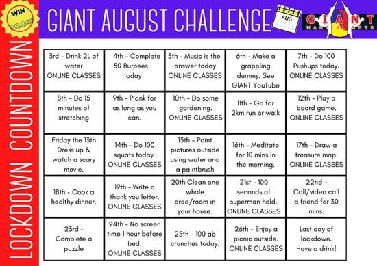GIANT August Daily Challenge