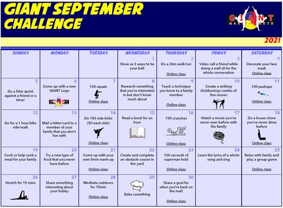 GIANT September Challenges
