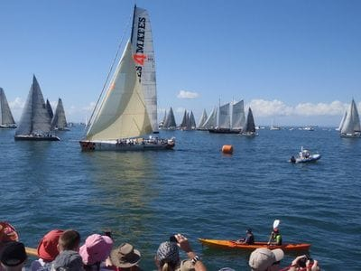 Brisbane to Gladstone Yacht Race start line