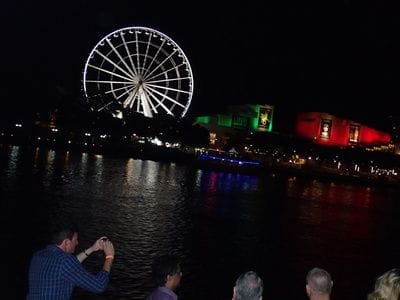 Wheel of Brisbane from Lady Brisbane party boat