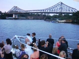 Wedding on Lady Brisbane boat