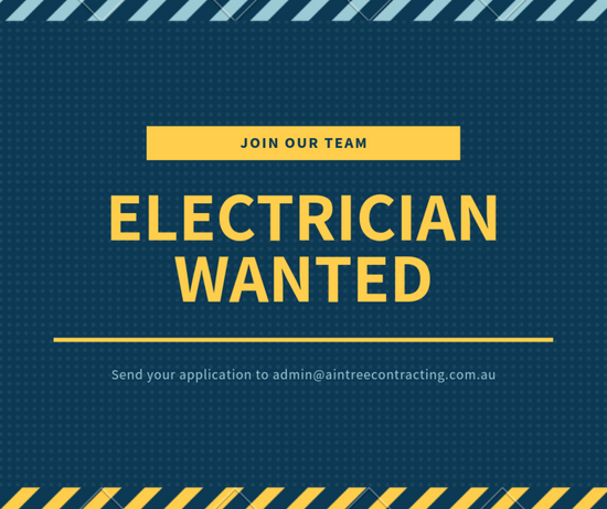 ELECTRICIAN WANTED!