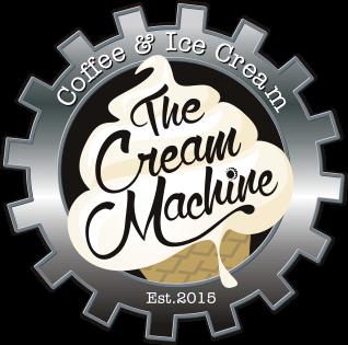 the cream machine, ice cream and coffee