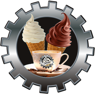 ice cream and coffee in a cog, The Cream Machine