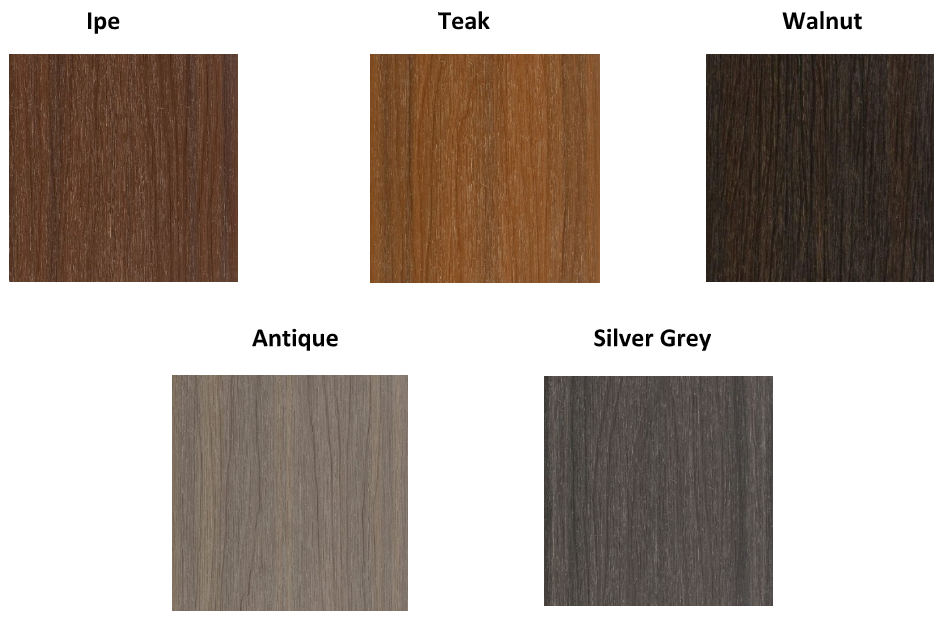 NewTechWood composite decking colour range