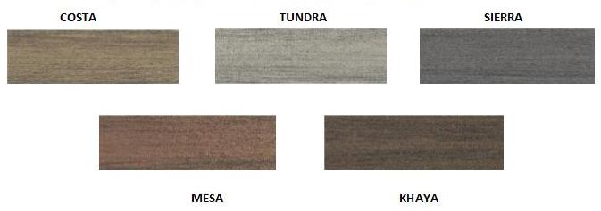Vibrant range of Deckorators colours
