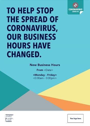 Corona Virus Change of Business Hours