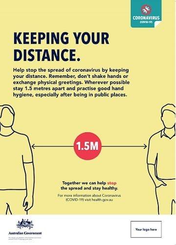 Coronavirus Poster - Keep your Distance