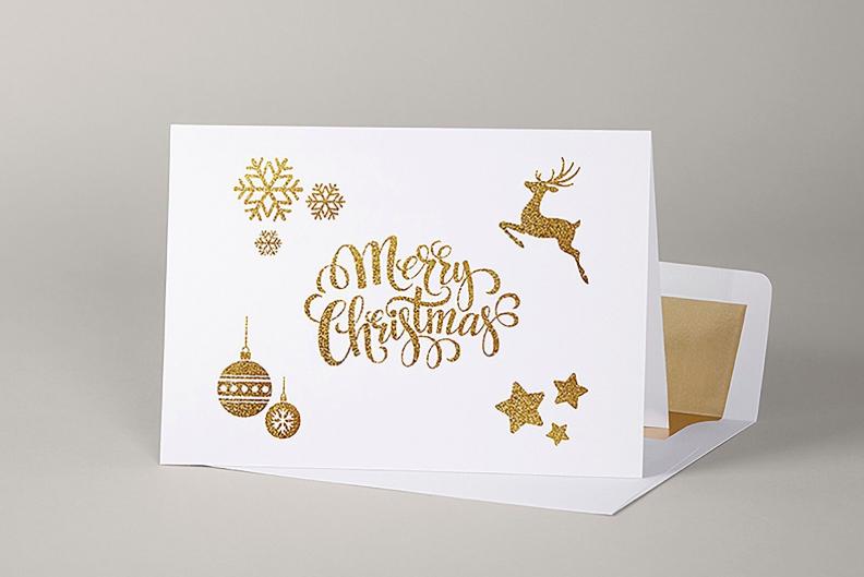 Classic Christmas card design