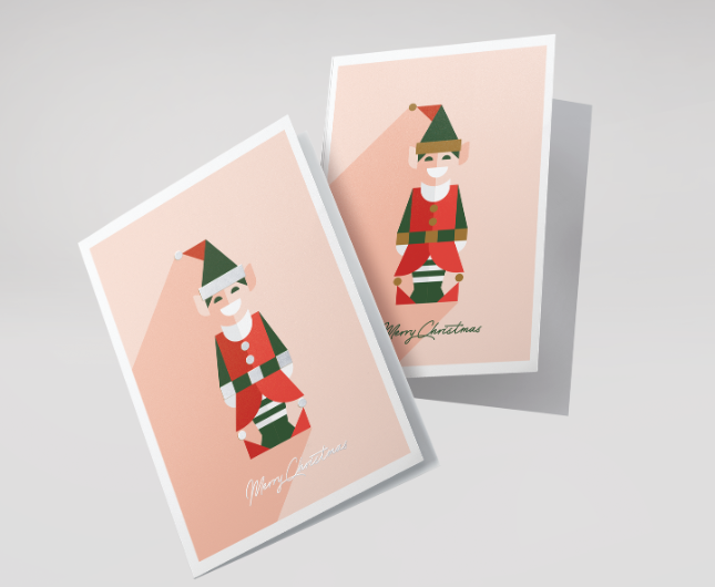 Quirky Christmas card design