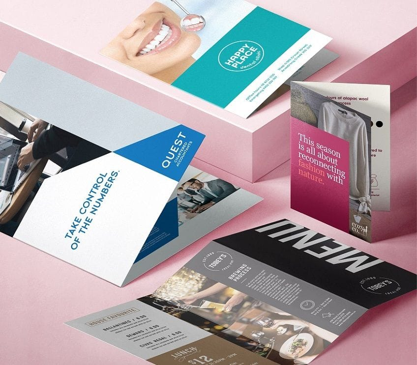 Brochures of all sizes DL, A6, A5, A4