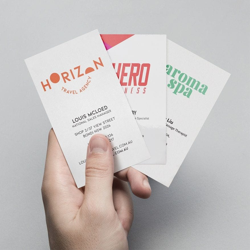 Business Cards Deluxe Finishes