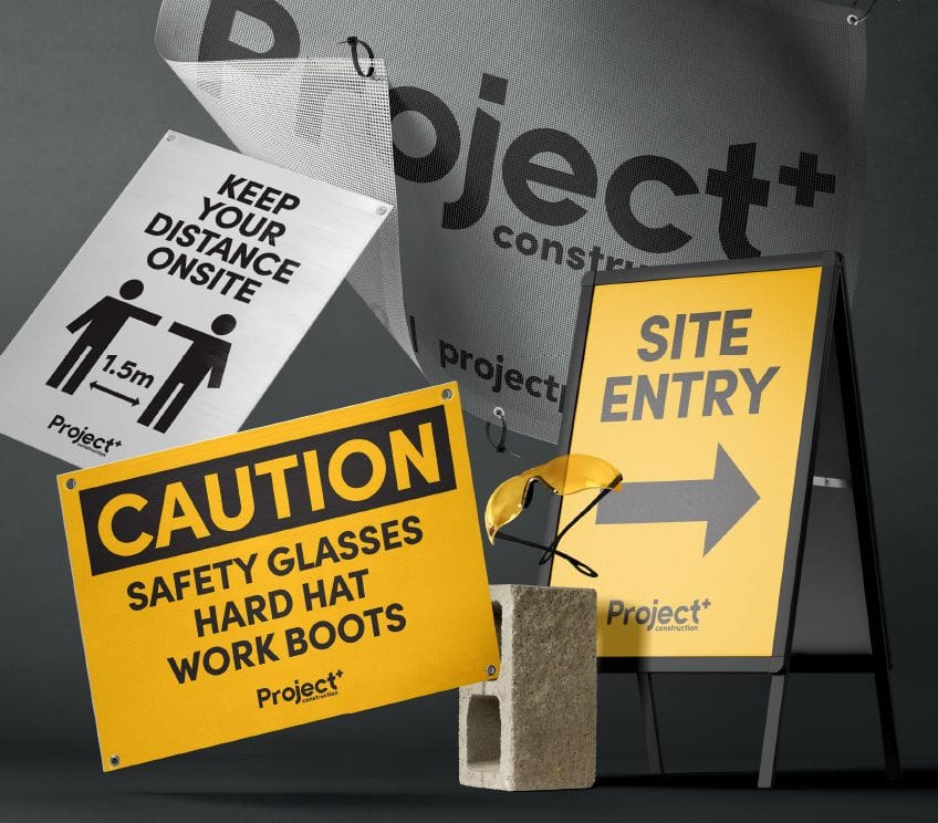 Corflute signs, mesh banners, A-Frame signs