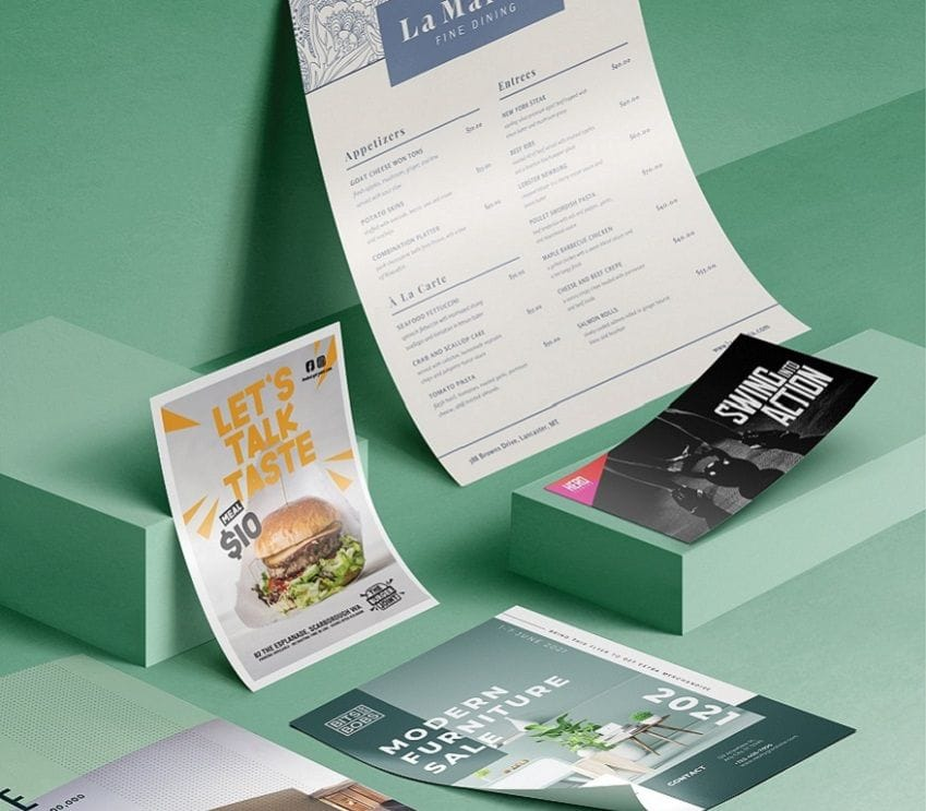 Flyers in all sizes DL, A6, A5, A4, A3