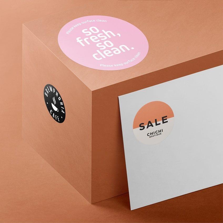Print & Design Round Stickers & Labels Online