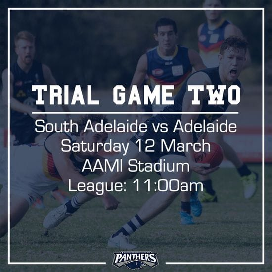 Trial Game Two: South vs Adelaide - Teams