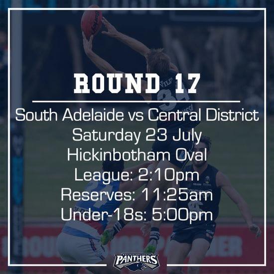 Round 17: South vs Centrals - Teams