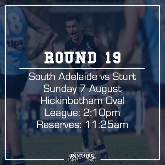 Round 19: South vs Sturt - Teams