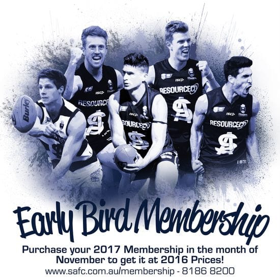2017 Early Bird Membership Available Now!