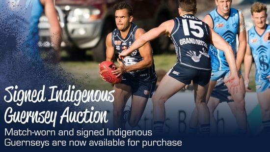 Match-worn, signed Indigenous Guernseys available for purchase!