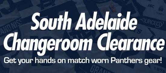 Panthers Changeroom Clearance - Score Match Worn Gear!