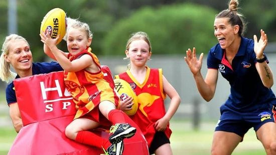 Adelaide Football Club Female Football Engagement Clinic