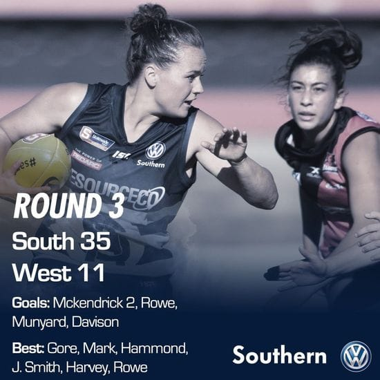 SAFCW Match Report - Round 3 - South Adelaide vs West Adelaide