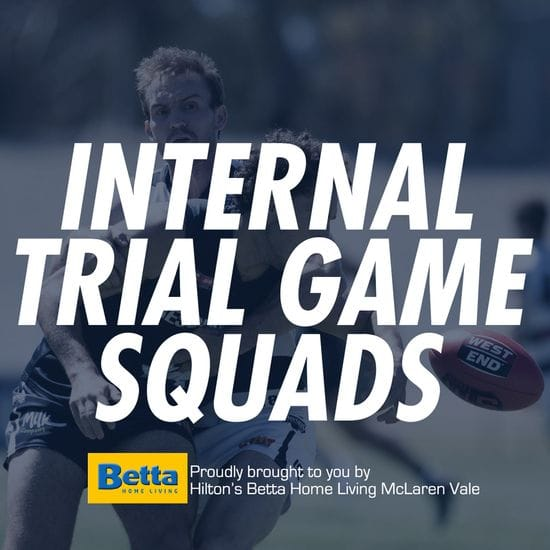 Betta Teams: Men's Internal Trial Squads