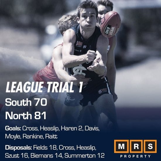 League Match Report - Trial 1 - South Adelaide vs North Adelaide