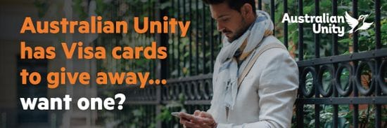 Australian Unity has Visa cards to give away... want one?