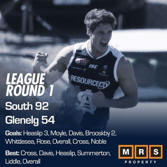 League Match Report - Round 1 - South Adelaide vs Glenelg