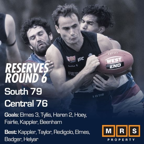 Reserves Match Report - Round 6 - South Adelaide vs Central District