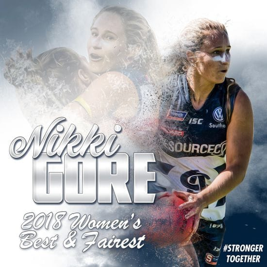 Nikki Gore claims inaugural women's best and fairest