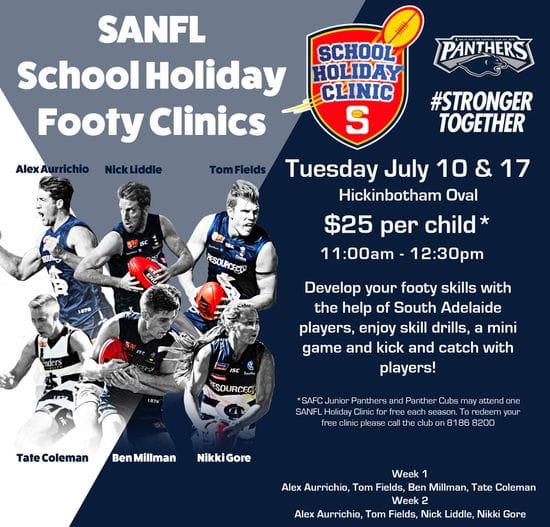 Panthers School Holiday Clinics