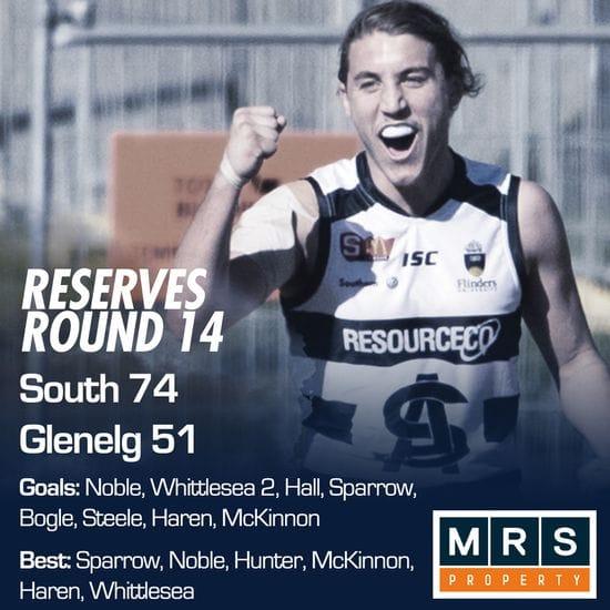 Reserves Match Report - Round 14 - South Adelaide vs Glenelg