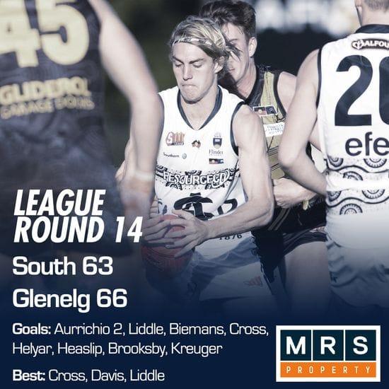 League Match Report - Round 14 - South Adelaide vs Glenelg