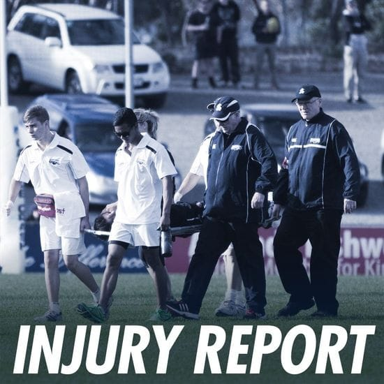 Injury Report - Round 17A