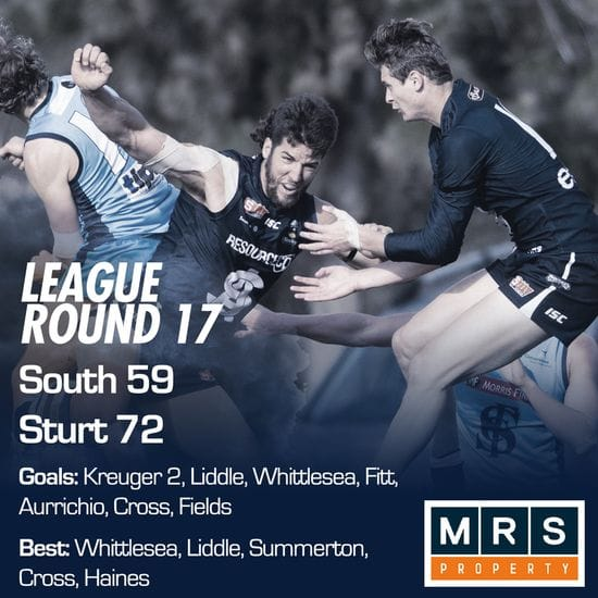 League Match Report - Round 17 - South Adelaide vs Sturt