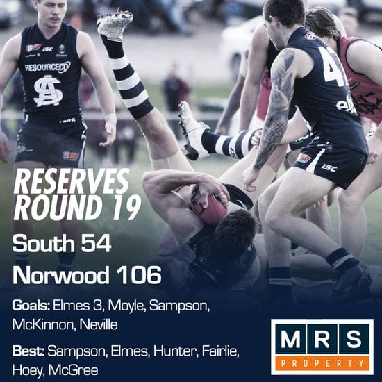 Reserves Match Report - Round 19 - South Adelaide vs Norwood