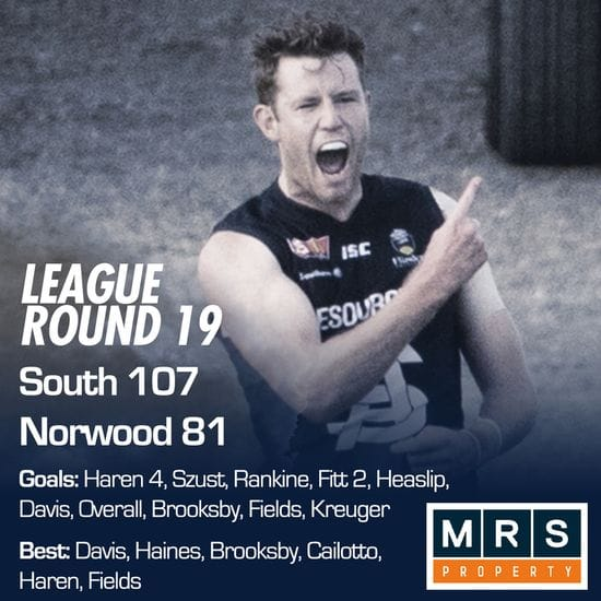 League Match Report - Round 19 - South Adelaide vs Norwood