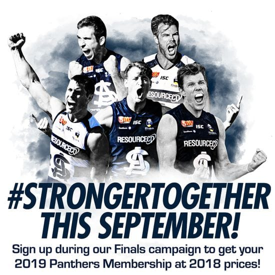 Finals Early Bird Membership - capped prices, Panther for Life and payment plans!